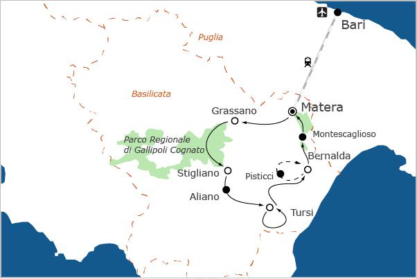 Basilicata fietsvakantie Matera 2019 Culturele Hoofdstad Europa