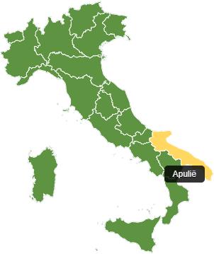 Fietsvakantie Apulië - kaart