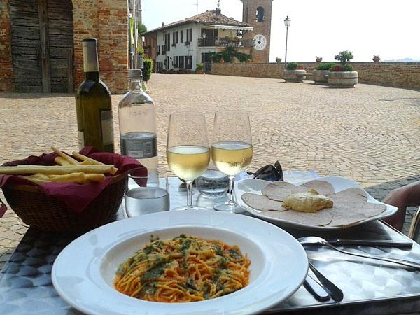 Fietsvakantie Italie - lunch