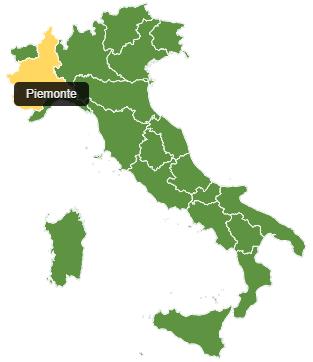 Fietsvakantie Piemonte - kaart