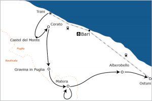 Fietsvakantie Puglia Unesco reis
