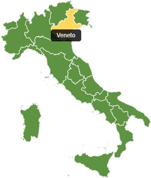 Fietsvakantie Veneto - kaart