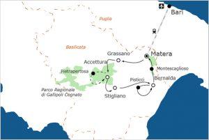 Fietsvakantie in Basilicata - Matera 2019 Culturele Hoofdstad Europa