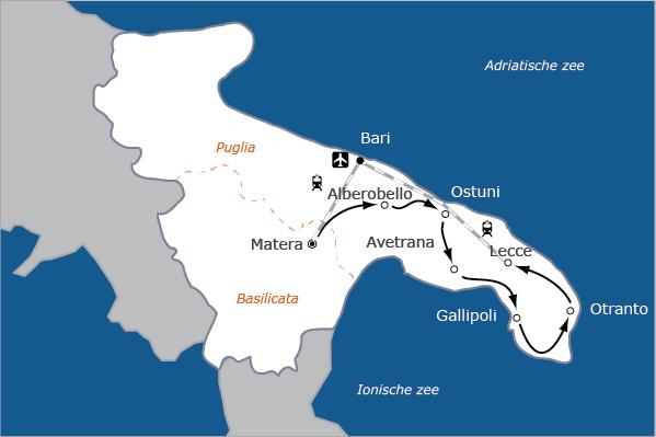 Puglia hiel van de laars fietsvakantie