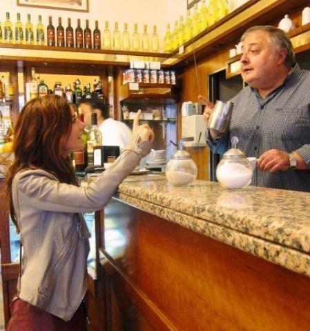 Fietsvakantie Italie - Italiaanse bar