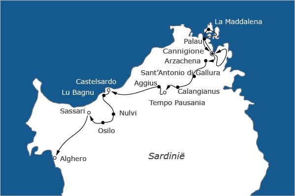 Noord Sardinië fietsvakantie