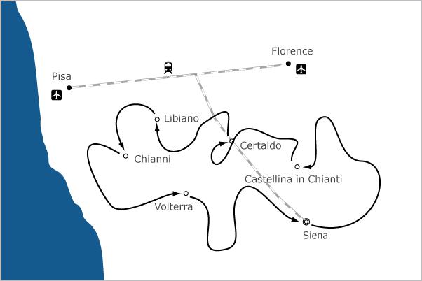 Fietsvakantie Toscane wielrenfiets - racefiets in toscane