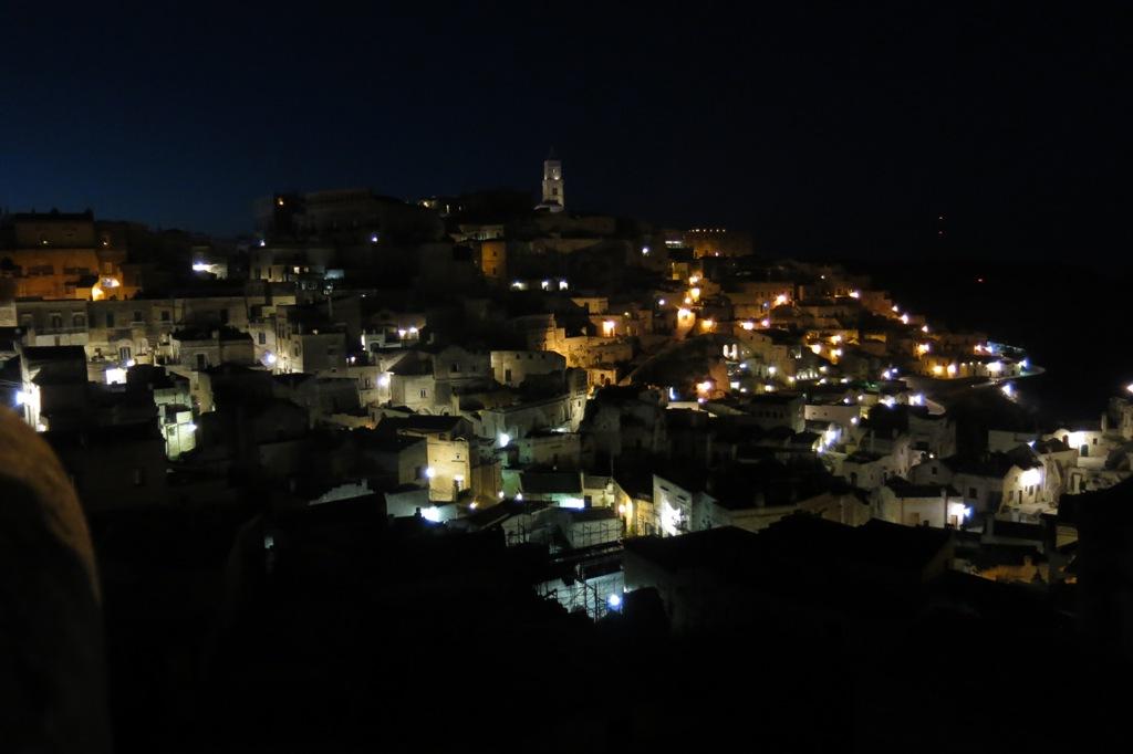 Fietsvakantie Puglia - Matera bij nacht