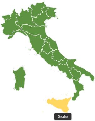 Fietsvakantie Sicilië - kaart