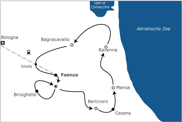 Fietsvakantie Italie - Romagna 8 dagen