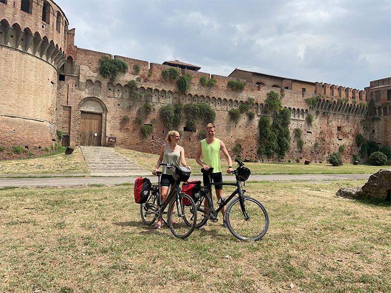 fietsvakantie romagna - onderweegs in italië